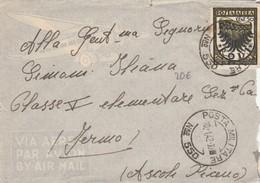 LETTERA 1942 VIA AEREA - COLONIE - RODI - TIMBRO POSTA MILITARE (RL410 - Aegean (Rodi)
