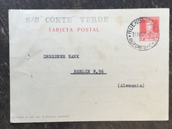 A1 Argentinien Argentina Argentine Ganzsache Stationery Entier Postal Psc Von Buenos Aires Nach Berlin - Postal Stationery