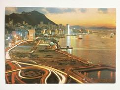Postcard Beautiful Dusk Scene Of Victoria Hong Kong My Ref B2866 - China (Hong Kong)