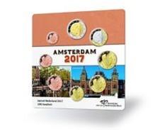 Nederland  2017   Coincard Met De 8 Munten - Coincard Avec Les 8 Pieces   AMSTERDAM  !! - Pays-Bas