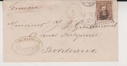 1877 MADRID  A BORDEAUX - Briefe U. Dokumente