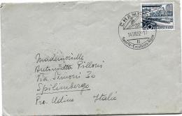 31022 - Enveloppe Envoyée En Italie - Cachet Illustré De Champéry / Valais 1952 - Marcophilie