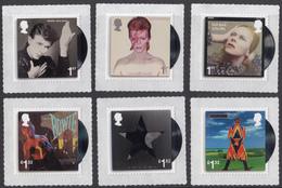 GB ~ 2017 ~ David Bowie ~ Set Of Six ~ MNH - 1952-.... (Elisabetta II)