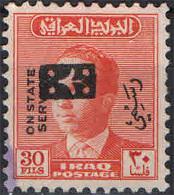 IRAQ - 1973 - SOVRASTAMPA - FRANCOBOLLO DI SERVIZIO - OVERPRINTED - USATO - Iraq