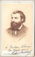 Robert Mitchell (1839-1916) - Homme Politique Français - Très Rare Photo Albuminée Dédicacée De Otto & Fière - Dédicacées