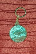 SPORT FISHING SOCIETY ZUBATAC (DENTEX) POREČ, PARENZO CROATIA VINTAGE KEY CHAIN - Badges