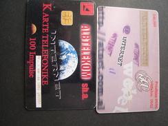 ALBANIA USED CARDS  TIR 140.....9/00