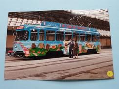 TRAM 12 Voertuig 2124 Te Antwerpen ( Reclame LU + Detail Beschildering ) 4 Stuks / Anno 19?? ( Zie Foto´s Voor Details ) - Transports