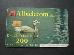 ALBANIA USED CARDS   2 SCAN  BIRDS - Albania