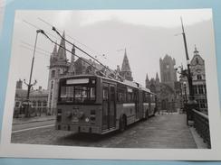 """AUTOBUS Trolley VAN HOOL ( Acec) Scholing Te GENT ( Copyright """" ROL """" Pers ) Anno 19?? ( Zie Foto´s Voor Details ) - Transportation"""