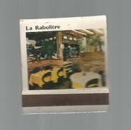 G-I-E , Tabac , Boites , Pochette D'ALLUMETTES , Publicité , 2 Scans , Restaurant La RABOLIERE , PARIS - Boites D'allumettes