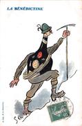 "¤¤  - Carte Publicitaire  -  Illustrateur  "" SEM  ""   -  La Bénédictine  -  Alpinisme , Alpiniste    -  ¤¤ - Advertising"