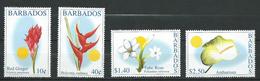 Barbados 2002 Flowers.MNH - Barbados (1966-...)
