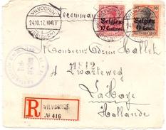 Occupation 1ere Guerre Mondiale 2 Lettres Censurees Ixelles Et Vilvoordde Pour La Haye Pays Bas 1917 - [OC38/54] Occ. Belg. In Ger.