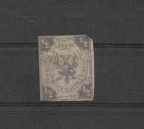 Anciens Etats Allemands / LUBECK / Timbre N° 1 De 1859  1/2 S. Etat Médiocre : Coupé, Aminci (+ De150 Ans) FAIRE OFFRE !