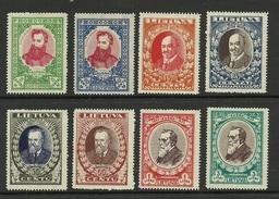 LITAUEN Lithuania 1933 Michel 356 - 363 A * - Lithuania