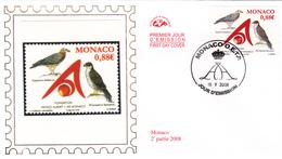 MONACO    2008  Enveloppe  Y.T. N° 2634  Oblitéré - Gebraucht