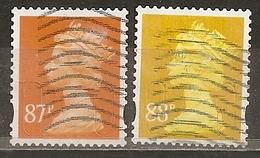 Grande-Bretagne Great Britain Machins 87 & 88p Stamps Obl - 1952-.... (Elizabeth II)