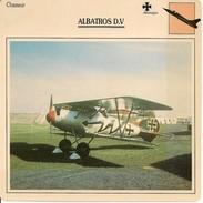 Fiches Illustrées - Caractéristiques Avions - Chasseur - ALBATROS D.V - Allemagne - (05) - - Aviation