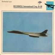 Fiches Illustrées - Caractéristiques Avions - Bombardier Lourd - ROCKWELL International Corp. B-1B - U.S.A. - (06) - - Aviation