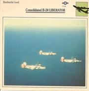 Fiches Illustrées - Caractéristiques Avions - Bombardier Lourd - Consolidated B-24 LIBERATOR - U.S.A. - (08) - - Aviation