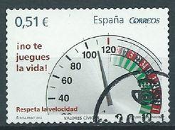 ESPAGNE SPANIEN SPAIN ESPAÑA 2012 CIVICS VALUES ¡NO TE JUEGUES LA VIDA!  0,51€ ED 4697 YV 4374 MI 4669 SG 4657 SC 3 - 2011-... Afgestempeld