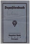 Sparbuch Von Rittergutsbesitzer Erich Roloff In Dabergotz / Neuruppin 1920 - 1945 , Temnitz , Sparkasse , Bank !!! - Landwirtschaft