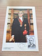 Carte Postale Maximum Premier Jour Le 23 Août 1975 Le N° 249 Georges Pompidou Co-Prince D'Andorre  TB - Cartas