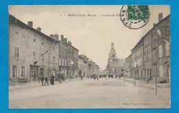MARVILLE     La Grande Place   Animées     écrite En 1912 - Frankreich