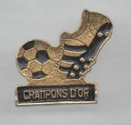 PINS PIN´S FOOT FOOTBALL CRAMPONS NOIRS CHAUSSURE - Football
