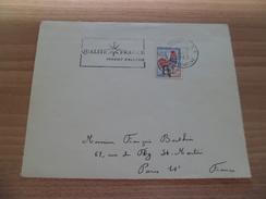 """R Devant De Lettre Constantine 4/9/1962 à Paris Avec N° 1331 Surcharge Manuelle EA  A Inversé Flamme """"Qualité France"""" TB - Cartas"""