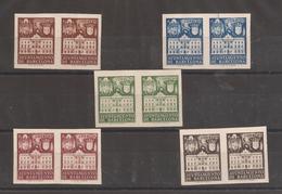 1942 Fachada Ayuntamiento Barcelona Edifil 33s/37s** VC 146,00€ - Barcelona