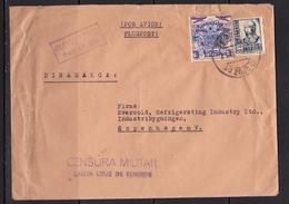 España 1938. Canarias. Carta De Las Palmas A Copenhagen. Censura. - Marcas De Censura Nacional