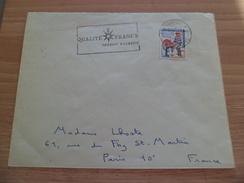 Lettre Hôtel  Bone Constantine 8/8/1962 à Paris Le N° 1331 Surcharge EA 1ère Jambe Du A Maigre +Flamme Qualité France TB - Lettres & Documents