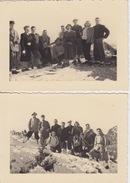 (07) 2 FOTOGRAFIE - COMITIVA SUI MONTI SCOFFERA E LAVAGNOLA - 29-10-1950 - (GENOVA) - Genova (Genoa)
