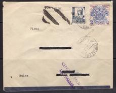 España 1937. Canarias. Carta De Las Palmas A Suiza. Censura. - Marcas De Censura Nacional