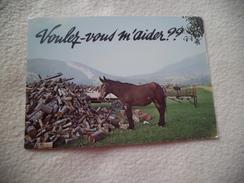 CARTE HUMORISTIQUE ...SAVOIE ..MASSIF DES BAUGES...BELLE BETE - Pferde