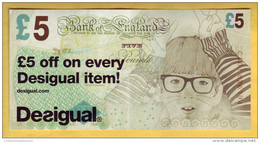 ROYAUME UNI - GRANDE BRETAGNE - Billet De 5£. DESIGUAL. 2012 - Falsi & Campioni