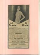 FRANCE . LA BEAUTE DU BUSTE  . PUB  DES ANNEES 1920 . DECOUPEE ET COLLEE SUR PAPIER . - Werbung