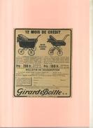 FRANCE 75 . GIRARD & BOITTE S.A. . PUB  DES ANNEES 1920 . DECOUPEE ET COLLEE SUR PAPIER . - Transportation