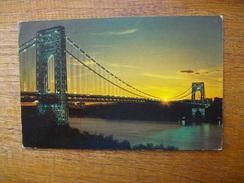 """états-unis , New York , George Washington Bridge """" Beau Cachet Philathélique """" - Ponts & Tunnels"""