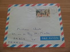 Devant De Lettre Avion De Philippeville Le 9/8/1962 Pour Paris Avec Le N°1318 Médéa Surcharge Rouge  EA  TB - Algeria (1924-1962)