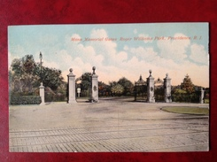 RI PROVIDENCE Mann Memorial Gates Roger Williams Park - Providence