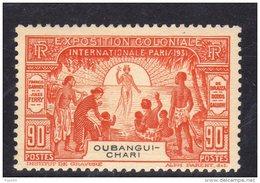 Oubangui N° 86  XX  Exposition Coloniale De Paris : 90.c. Orange Sans Charnière, TB - Ungebraucht