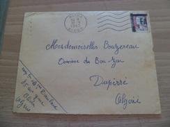 Lettre De Blida Département D'Alger Le 11/9/1962 Pour Dupérré Algérie Avec Le N°1263 Surcharge Manuelle  EA  TB - Algeria (1924-1962)