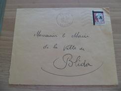 Lettre De Blida Département D'Alger Le 12/11/1962 Pour Blida Avec Le N°1263 Surcharge Mécanique  EA  TB - Algeria (1924-1962)