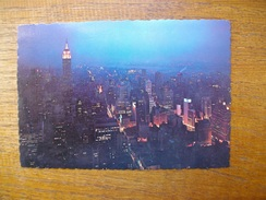 états-unis , New York , View From R.c.a. Looking Southwest , The Empire State Building - Multi-vues, Vues Panoramiques