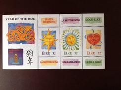 Ireland 1994 Year Of The Dog Minisheet MNH - 1949-... Republic Of Ireland