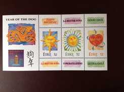 Ireland 1994 Year Of The Dog Minisheet MNH - 1949-... República Irlandése