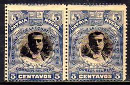 00745 Peru 187 Constituição Par Com Impressão Deslocada - Peru